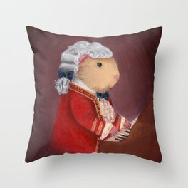 Guinea Pig Mozart Classical Composer Series Throw Pillow