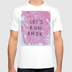 let's run amok Mens Fitted Tee White MEDIUM