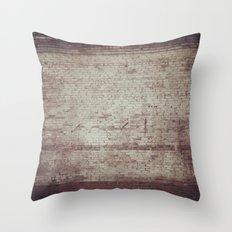 Brick Texture Throw Pillow