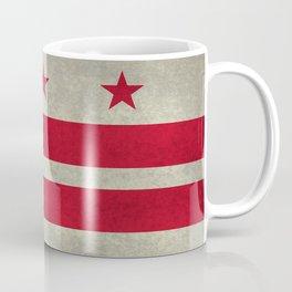 Washington D.C flag with worn textures Coffee Mug