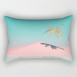 Palm Tree Oasis Rectangular Pillow