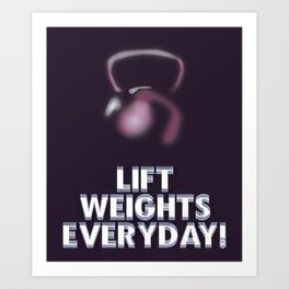 Abstract Lift Weights Everyday Art Design Art Print