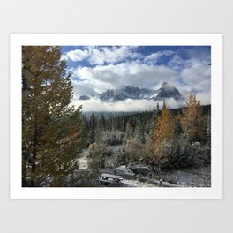 Fall in Canmore - Canada  Art Print