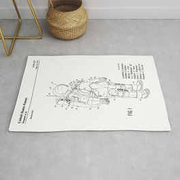 NASA Space Suit Patent Rug
