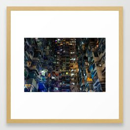 Hong Kong Walled City Framed Art Print