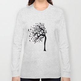 Tree Birds x2 Long Sleeve T-shirt