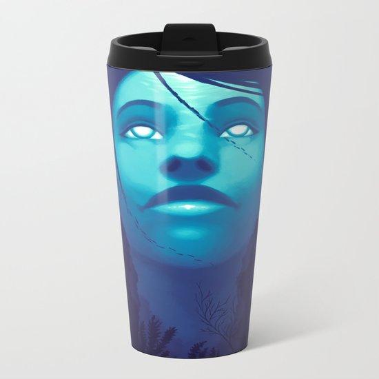 Luminescent Sapphire Metal Travel Mug