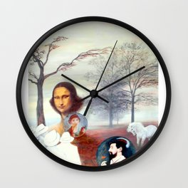 Mona Lisa and Friends Wall Clock