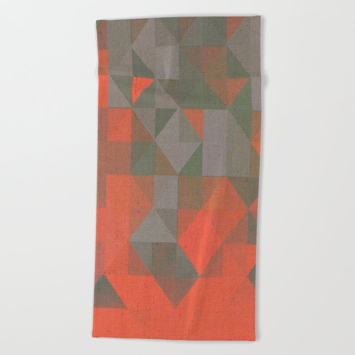 Faceted Vibes Beach Towel