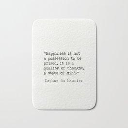 Daphne du Maurier quote Bath Mat