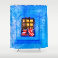 tea Shower Curtains featuring Tea by digital2real