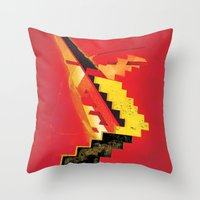 revolution Throw Pillows featuring Revolution by Andrej Balaz