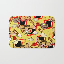 Year of the pig pattern Bath Mat