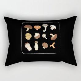 Types Of Mushrooms Mushroom Collecting Fungi Rectangular Pillow