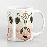 panda Mugs featuring panda! by Manoou