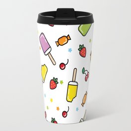 Summer pattern with icecream and sweets Travel Mug
