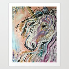 Serene Unicorn Art Print