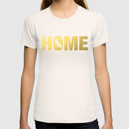 California home state faux gold foil print T-shirt