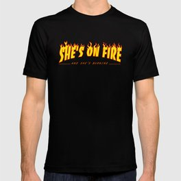 Scarface She's on Fire  T-shirt