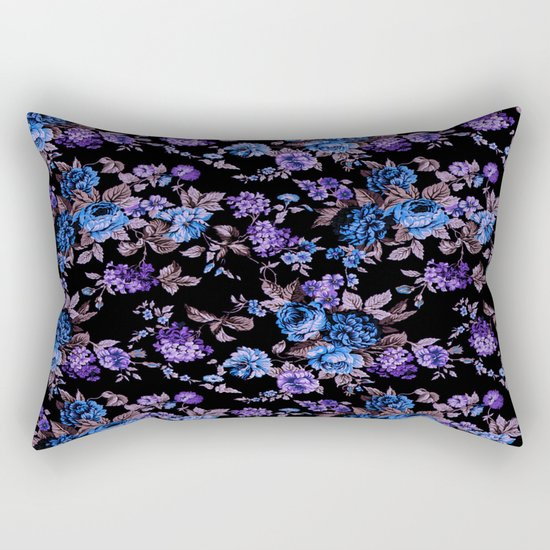 Black Garden Rectangular Pillow