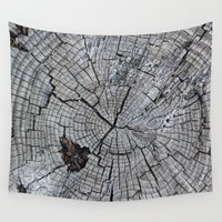tree rings Wall Tapestries featuring Rings by Elizabeth Velasquez