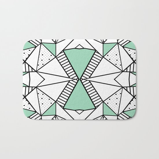 Ab Lines and Spots Mint Bath Mat