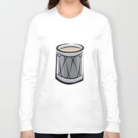 drum Long Sleeve T-shirts featuring Drum by shopaholic chick