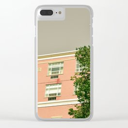 Pink Apartment House Clear iPhone Case