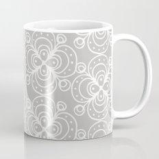 Silver grey lacey floral Mug