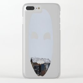 Hopeless, Abandoned, and Alone Under Grey Snow Filled Sky Clear iPhone Case