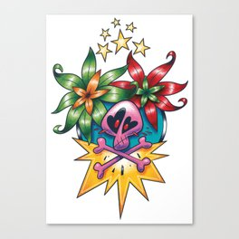 Tatouage de Mégane Canvas Print