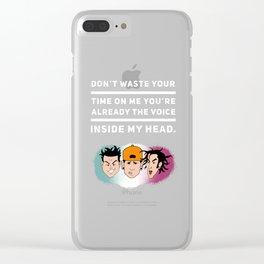 I Miss You Graffiti Tribute Clear iPhone Case