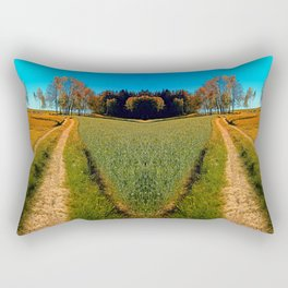 Hiking trail following the trees Rectangular Pillow