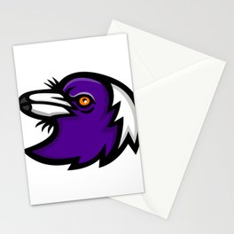 Australian Magpie Head Mascot Stationery Cards