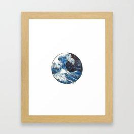 The Midnight Wave Framed Art Print