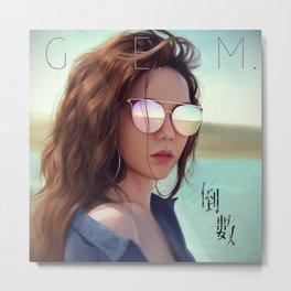 G.E.M. 倒數 Tik Tok Metal Print