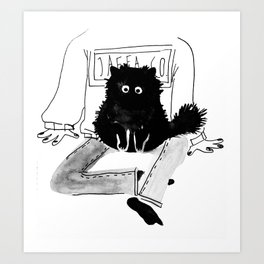A fluff ball Art Print