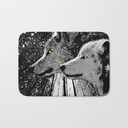WOLF OF THE NIGHT FOREST Bath Mat