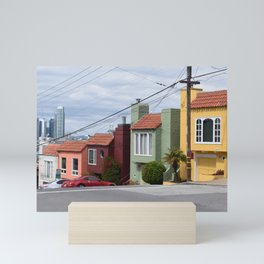 Houses of color in San Fransisco Mini Art Print
