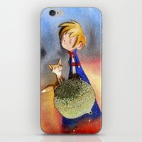 the little prince iPhone & iPod Skins featuring Little Prince by Jose Luis Ocana