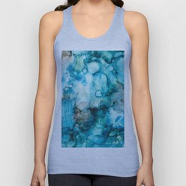 Blue Abstract Unisex Tank Top