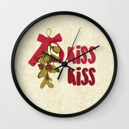 Mistletoe, Kiss Kiss Wall Clock