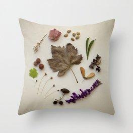 Natural Circle F1 Throw Pillow