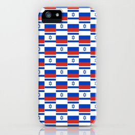 Mix of flag: israel and Russia iPhone Case