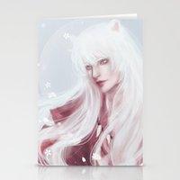 inuyasha Stationery Cards featuring Inuyasha by Pastellish