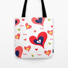 The hearts of Saint Valentines' Day Tote Bag