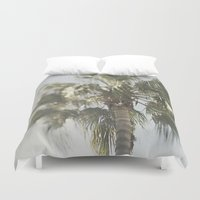 palm tree Duvet Covers featuring Palm Tree by Pure Nature Photos
