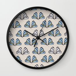 Madam Butterfly Print Wall Clock