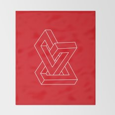 Optical illusion - Impossible figure Throw Blanket