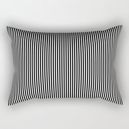 Black & White Vertical Stripes Rectangular Pillow